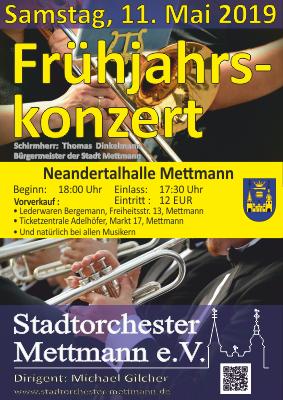 Flyer Frühjahrskonzert 2019 - Stadtorchester Mettmann